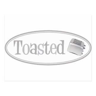 TOASTED Retro Toaster - Light Grey Postcard