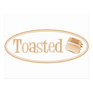 TOASTED Retro Toaster - Light Orange Postcard