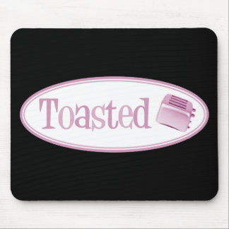 TOASTED Retro Toaster - Light Pink Mousepads