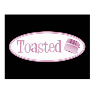 TOASTED Retro Toaster - Light Pink Postcard