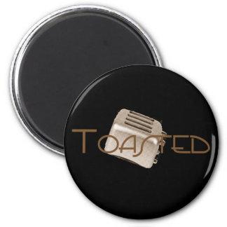 Toasted - Retro Toaster - Orange Sepia Magnet