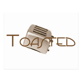 Toasted - Retro Toaster - Orange Sepia Postcard