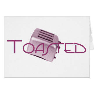Toasted - Retro Toaster - Pink Greeting Card