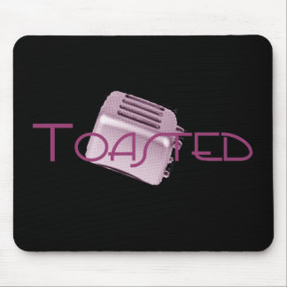 Toasted - Retro Toaster - Pink Mouse Pad