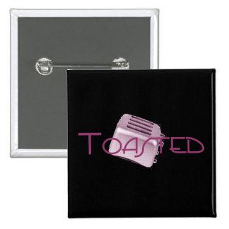 Toasted - Retro Toaster - Pink Pinback Button