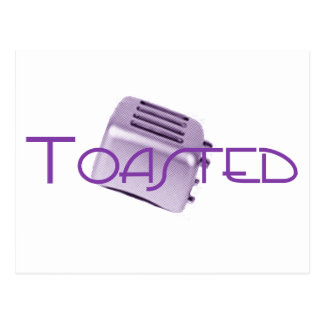 Toasted - Retro Toaster - Purple Postcard