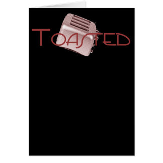 Toasted - Retro Toaster - Red Greeting Card