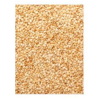 Toasted sesame seeds postcard