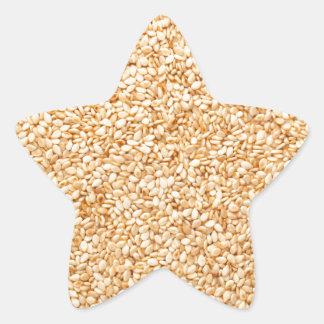 Toasted sesame seeds star sticker