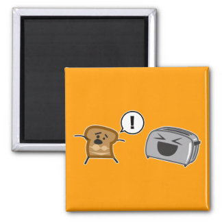 Toasted Toast Tanlines 2 Inch Square Magnet