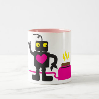 toaster love Two-Tone coffee mug