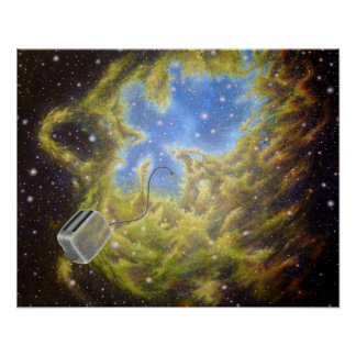 Toaster Passes the Eagle Nebula Poster