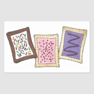 Toaster Pastry Baked Goods Pastries Breakfast Food Rectangular Sticker