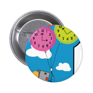 Toaster Time Flies Pinback Buttons