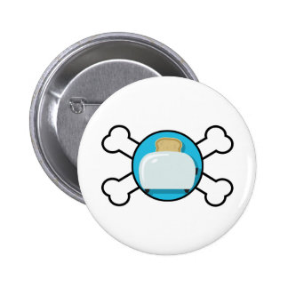 toaster toast and crossbones design button