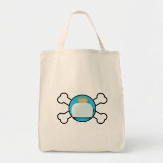 toaster toast and crossbones design canvas bag