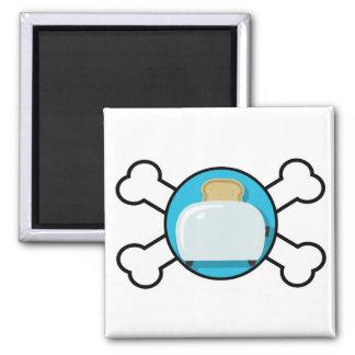 toaster toast and crossbones design refrigerator magnet