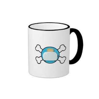 toaster toast and crossbones design ringer coffee mug