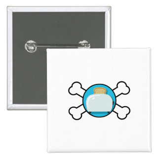 toaster toast and crossbones design pins