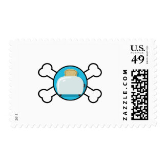 toaster toast and crossbones design postage stamp