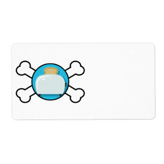 toaster toast and crossbones design shipping label