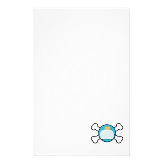 toaster toast and crossbones design personalized stationery
