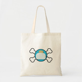 toaster toast and crossbones design tote bag