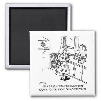 Toaster's Password 2 Inch Square Magnet