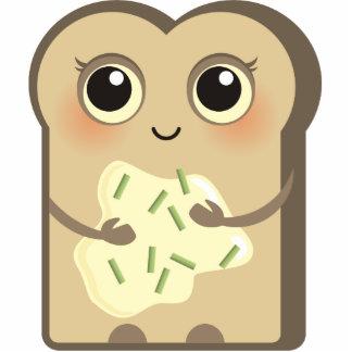 Toasties lindo - crema y cebolletas del queso imán fotoescultura