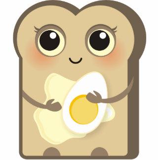 Toasties lindo - mantequilla y huevo imán fotoescultura