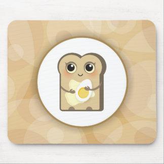 Toasties lindo - mantequilla y huevo alfombrillas de ratones