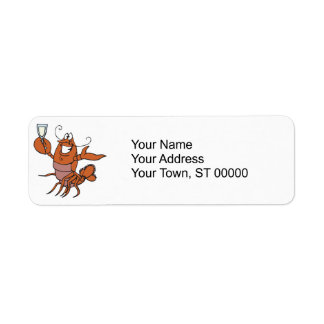 toasting lobster label