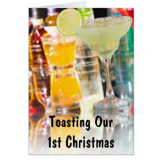 """TOASTING """"OUR 1st CHRISTMAS TOGETHER"""" Card"""