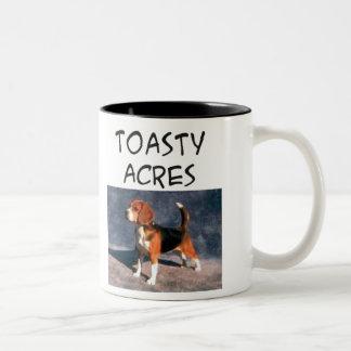Toasty Acres copy Two-Tone Coffee Mug