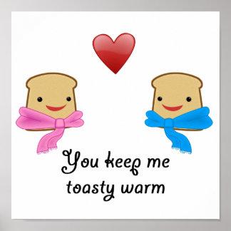 Toasty caliéntese póster