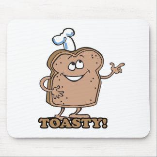 Toasty happy bread toast mouse pad