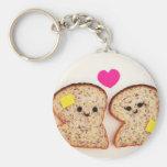 Toasty Love Basic Round Button Keychain