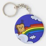 Toasty Rainbow Keychain