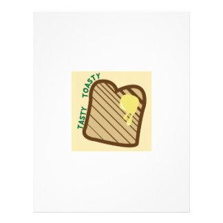 Toasty sabroso membretes personalizados