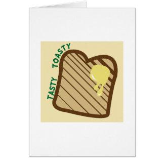 Toasty sabroso tarjeta
