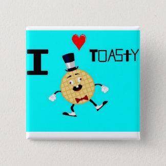 Toasty the Waffle Man Pinback Button