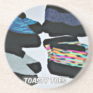 toasty toes handknit slippers coaster