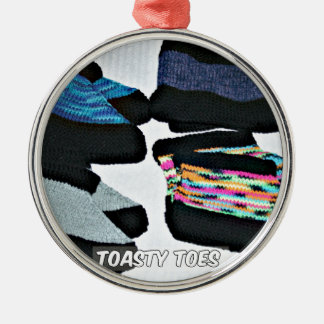 toasty toes handknit slippers metal ornament