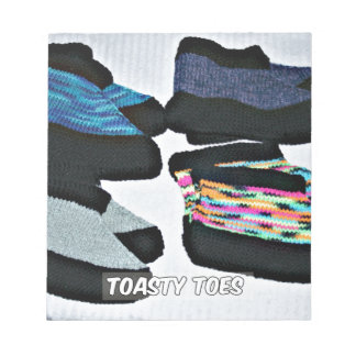 toasty toes handknit slippers notepad