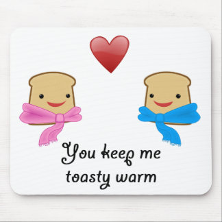 Toasty warm mouse pad