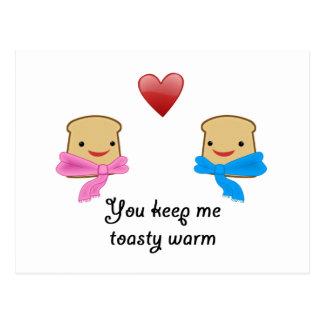 Toasty warm postcard