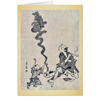 Toba e correspondence by Utagawa,Toyohiro Greeting Card