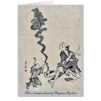 Toba e correspondence by Utagawa,Toyohiro Stationery Note Card