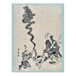 Toba e correspondence by Utagawa,Toyohiro Postcard