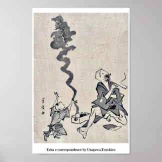 Toba e correspondence by Utagawa,Toyohiro Poster